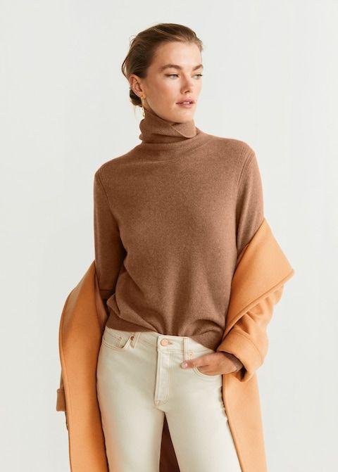 Pullover aus 100 % kaschmir mit hohem kragen Damen