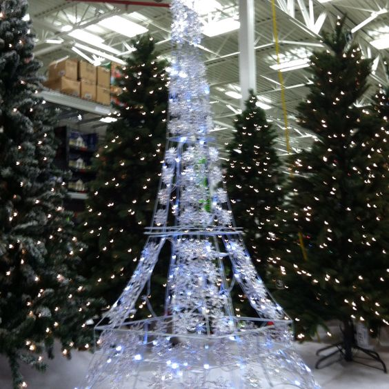 Paris Christmas Decorations: Eiffel Tower Light-up Yard Decor Found At Lowe's