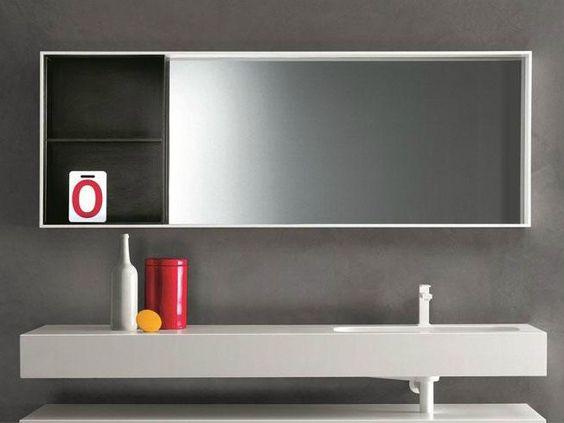 T l chargez le catalogue et demandez les prix de miroir for Miroir salle de bain cadre noir