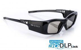 Hi-SHOCK® Black Diamond [DLP Link 3D Brille für Largo, Acer, Benq & Optoma Beamer]