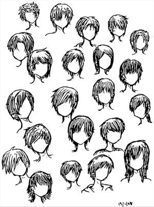 Awesome Anime Hairstyles Anime And Emo Hairstyles On Pinterest Hairstyles For Women Draintrainus