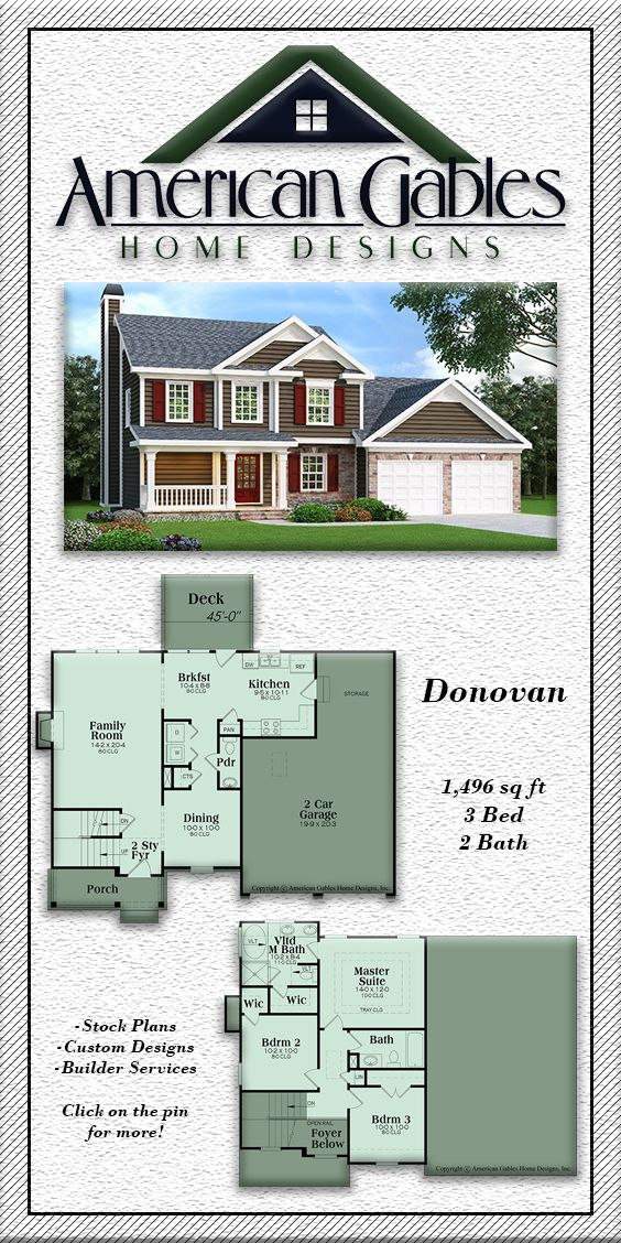 Traditional Plan 1496 Square Feet 3 Bedrooms 2 Bathrooms Donovan How To Plan Floor Plans House Floor Plans