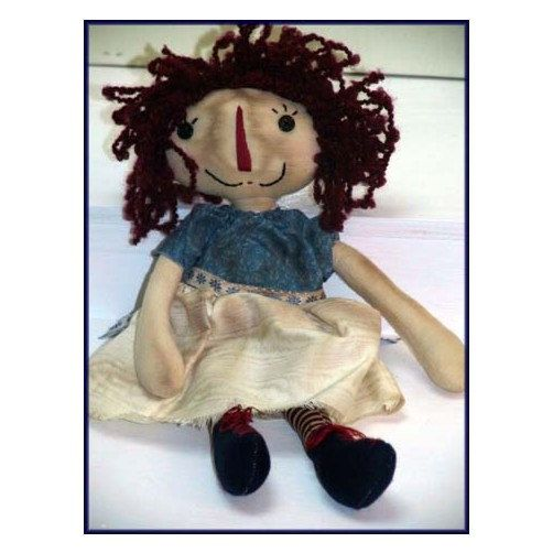 Punky  Handmade Primitive Girl Doll  by LindaWalshOriginals, $29.95