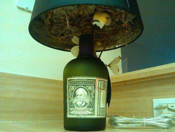 Beautiful Diplomatico Handmade Rum Bottle Lamp With Secret Switches via Etsy Eventos Pinterest