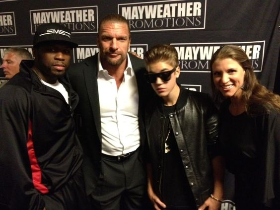 50 Cent, Triple H, Justin Bieber, and Stephanie McMahon …excuse me