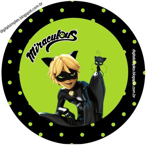 Kit festa de Aniversário Desenho Miraculous As aventuras de Ladybug e Cat Noir, para meninos.