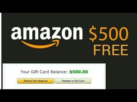 Free Amazon Gift Card 500 Free Apply Now Youtube Amazon