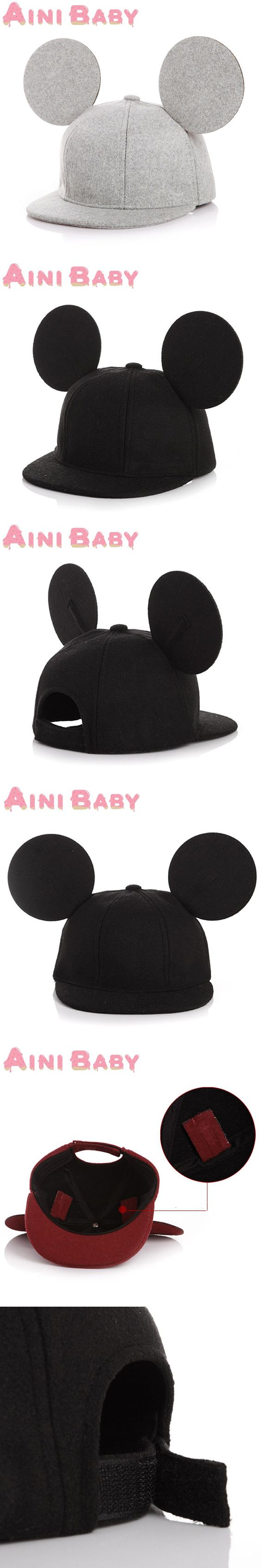 Lovely Ear Child Snapback Hat For Children Cap Hip Hop Hat For Baby Hat Hip-Hop Cap Boy Girls Baseball Cap Bone Free Shipping $6.89