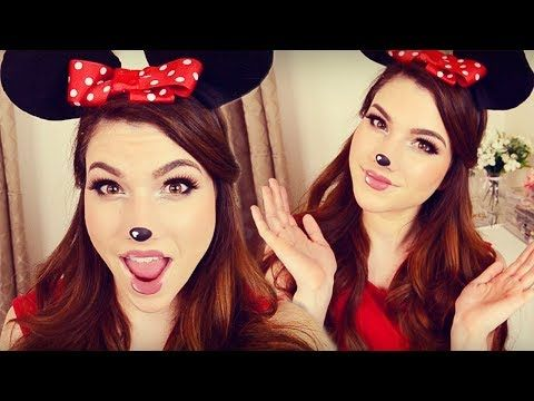 minnie mouse makeup hair diy headband ears i halloween. Black Bedroom Furniture Sets. Home Design Ideas