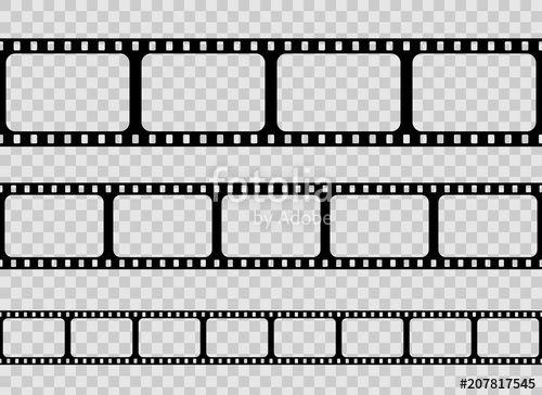 Download The Royalty Free Vector Creative Vector Illustration Of Old Retro Film Strip Frame Set Isolated On Transparent Backg Retro Film Film Strip Art Design