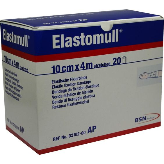 ELASTOMULL 10 cmx4 m 2102 elastisch Fixierb:   Packungsinhalt: 20 St Binden PZN: 03486210 Hersteller: BSN medical GmbH Preis: 18,66 EUR…