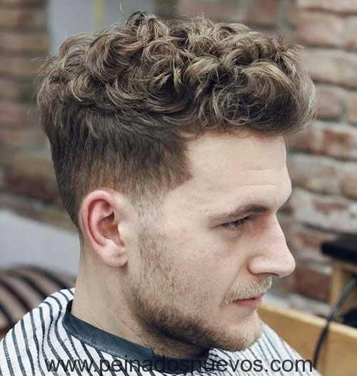 Top Largo Rizado Peinado Curly Hair Men Curly Hair Styles Quiff Hairstyles