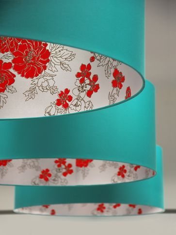 Florence Broadhurst - Gardenia   great idea, line lamp shades with amazing wallpaper: