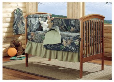 Bass Pro Shops Mossy Oak Break Up Crib Bedding Collection