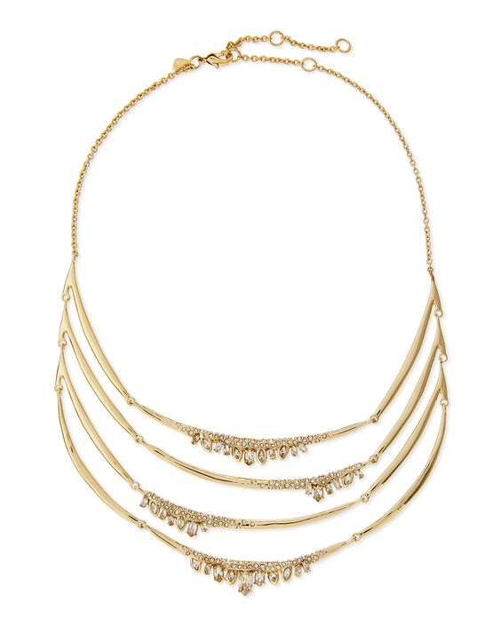 Alexis Bittar Jagged Marquise Crystal Bib Necklace, Women's