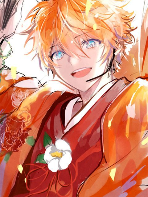 Strawberry Blond Blue Eyes Anime Boy Blonde Anime Boy Anime Orange Anime Boy Hair