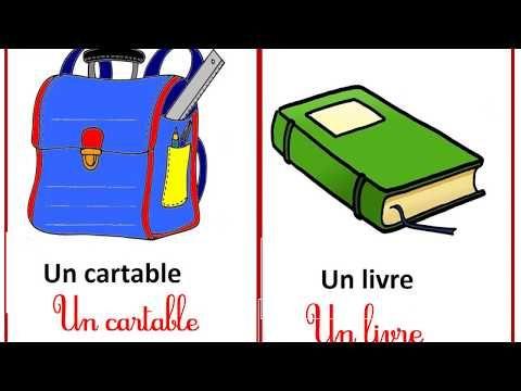 ملفات رقمية فيديوات تعليمية الادوات المدرسية بالفرنسية Furnitu Mathematics Worksheets Mathematics Luggage