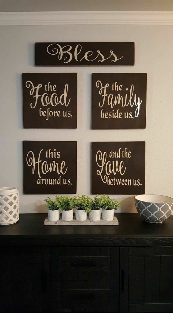 Home It S Where Everyone Likes That Hang So Totally Worth Your Time And Attention In Diy Pallet Wall Art Dining Room Decor