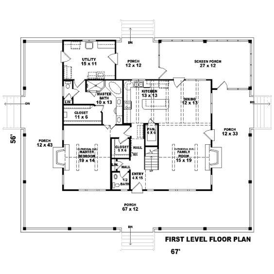 Florida cracker style house blueprint blue prints for Florida blueprint
