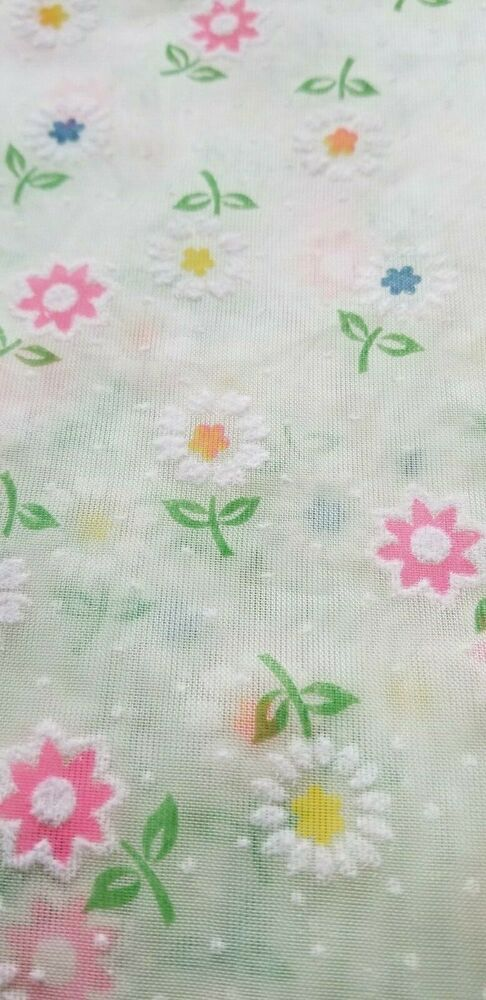 Flocked fabric vintage Green with