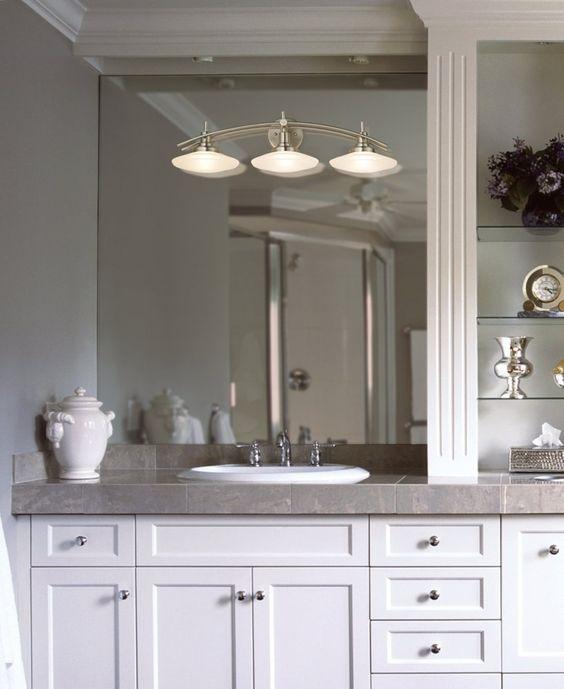 Kichler Structures 6463NI Nickel 30 Wide Bathroom Light Fixture