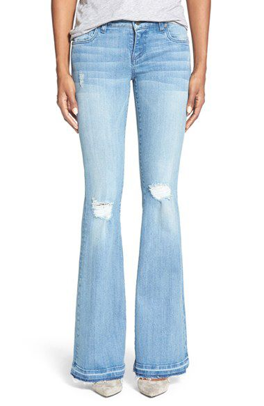 KUT from the Kloth KUT from the Kloth 'Elena' Distressed Super Flare Leg Jeans (Organize) available at #Nordstrom