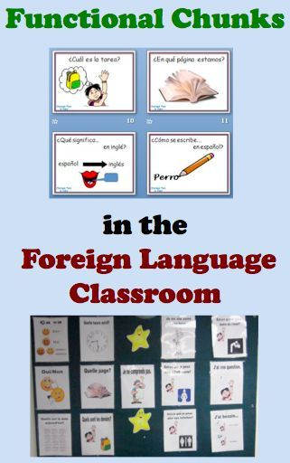 Foreign Language Classroom Decorations : Functional chunks of language in the foreign