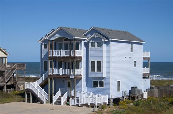 Pebble beach outer banks vacation rentals and vacation for Beach house plans outer banks
