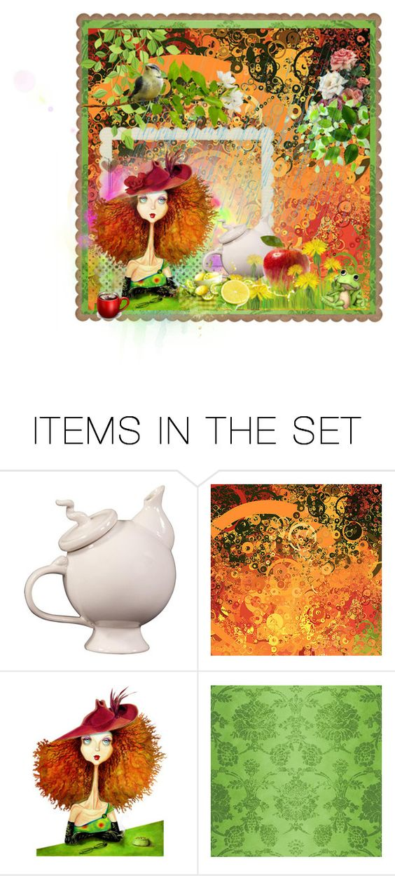 """""""Teatime"""" by sonjanaimann ❤ liked on Polyvore featuring art"""