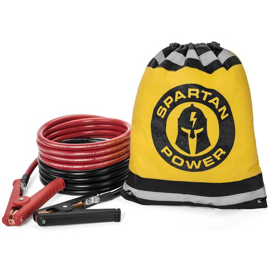 Heavy Duty Jumper Cables Yellow Storage Bag Storage Metal Working