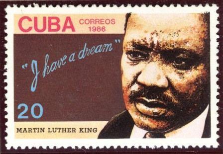 Martin Luther King auf einer kubanischen Briefmarke