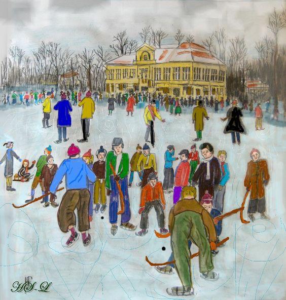 Winterspiele am alten Seehaus in München