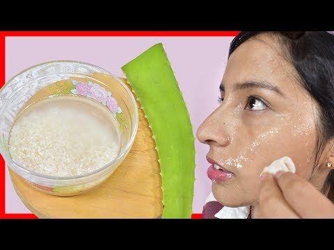 Mascarilla De Agua De Arroz Con Aloe Vera Youtube Con Imagenes