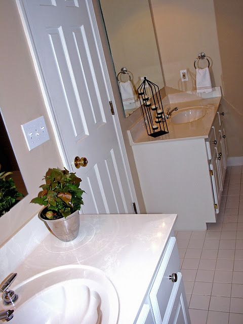 Feminine tile and air vent covers on pinterest for Staging a bathroom ideas