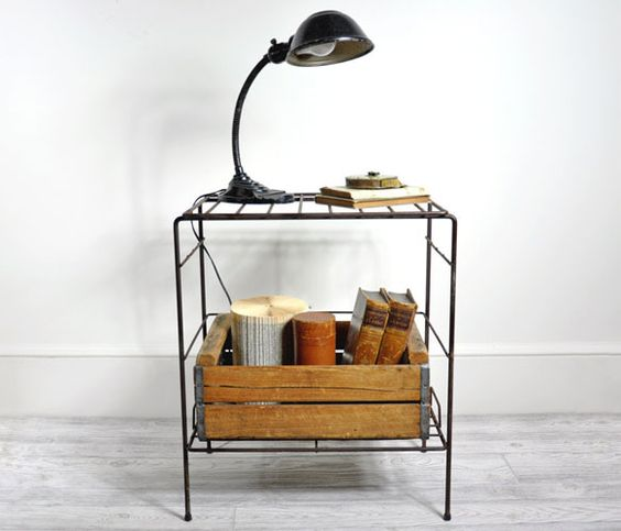 Wire Table with Shelf by Haven Vintage