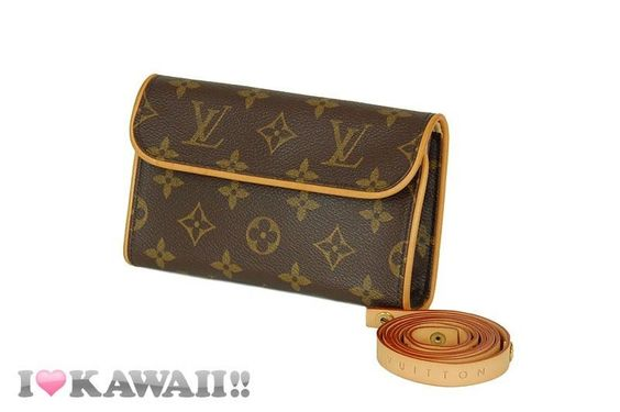 Auth Louis Vuitton Monogram Pochette Florentine Waist Pouch Hip Bag Free Ship! #LouisVuitton #HipBag