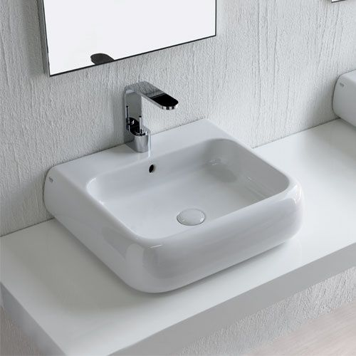 Lavabo Sospeso O Da Appoggio 54 Bagno Piccolo Ceramica E Bagno