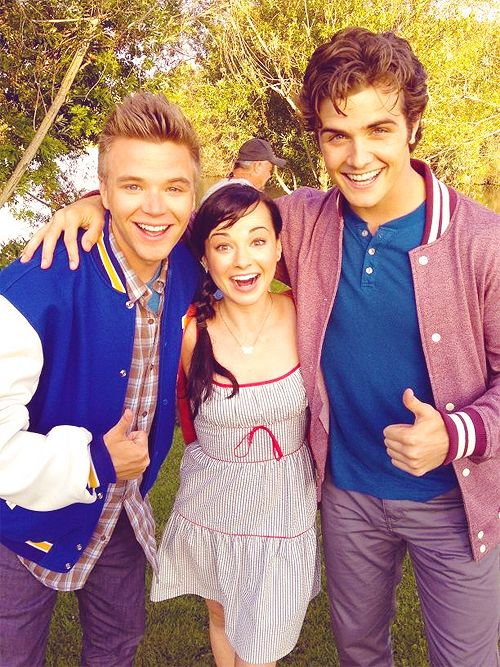 Awkward. Brett Davern, Ashley Rickards & Beau Mirchoff