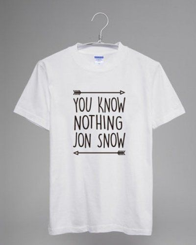 you know nothing jon snow t shirt game of thrones-