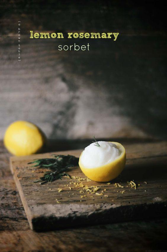 lemon and rosemary sorbet | 3/4 C tart | try overwintering that ...