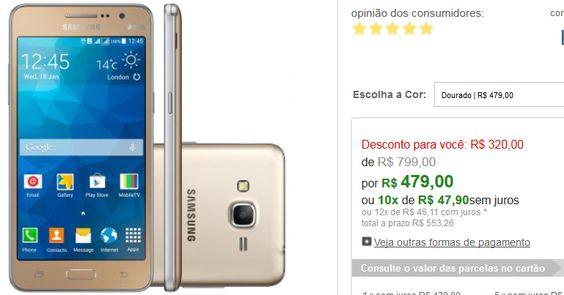 Samsung Galaxy Gran Prime Dual Chip 3G TV Tela 5 Câmera 8MPFrontal 5MPQuad Core 1.2Ghz 8GB << R$ 47900 em 10 vezes >>