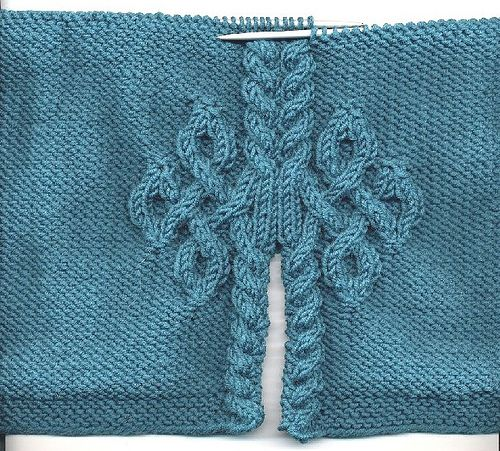 Celtic Love Knot Knitting Pattern : Cul-de-sac -back close up (no instructions) Knitting patterns Pinterest ...