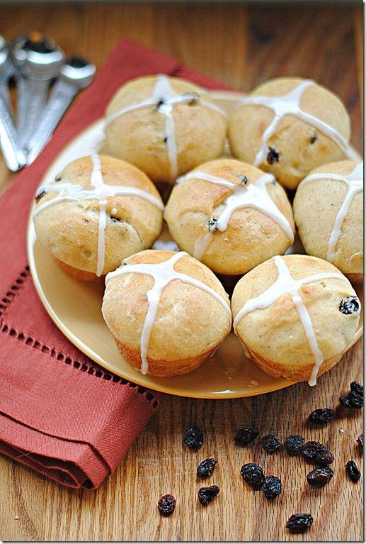 lightened up hot cross buns