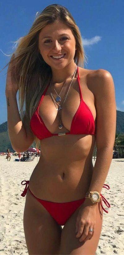 Candid Blonde Teen Bikini