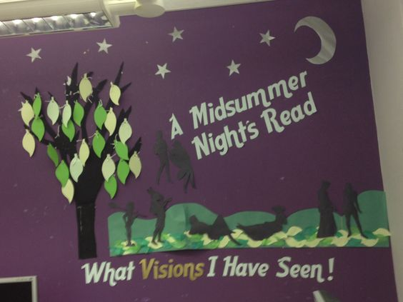A Midsummer Night's Dream library display