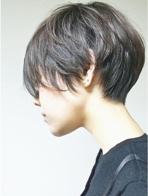 ショートヘア 30代40代 大人のひし形ショートボブ Beautrium Ginza