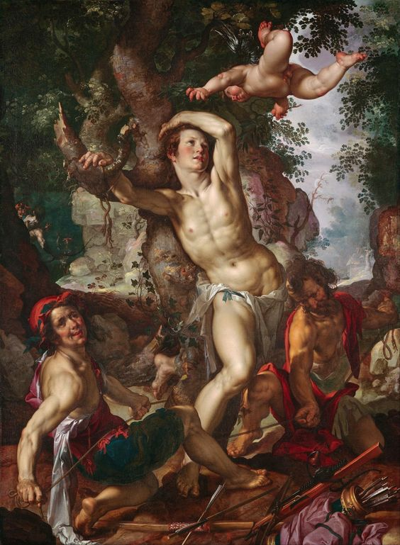 Joachim Anthonisz. Wtewael: The Martyrdom of Saint Sebastian (1600)