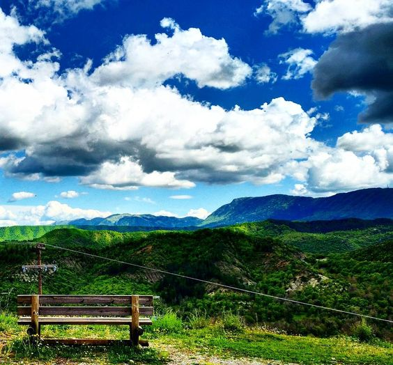 On the road series . Greece  #greece #roadtrip #audi #ontheroad #audia4 #epirus #mountains #crossing #thelonelytraveler #travelphotography #travel #vacation #bench #sky #clouds #relax #traveladventures