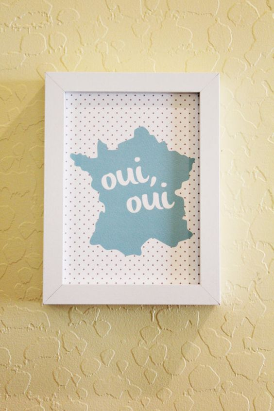 French Print Oui Oui by ShopCF on Etsy, $7.00