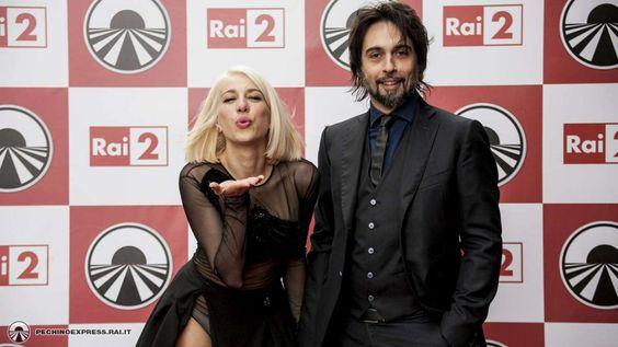 Federico Sarcina e la ex moglie Clizia alla promozione di Pechino Express.